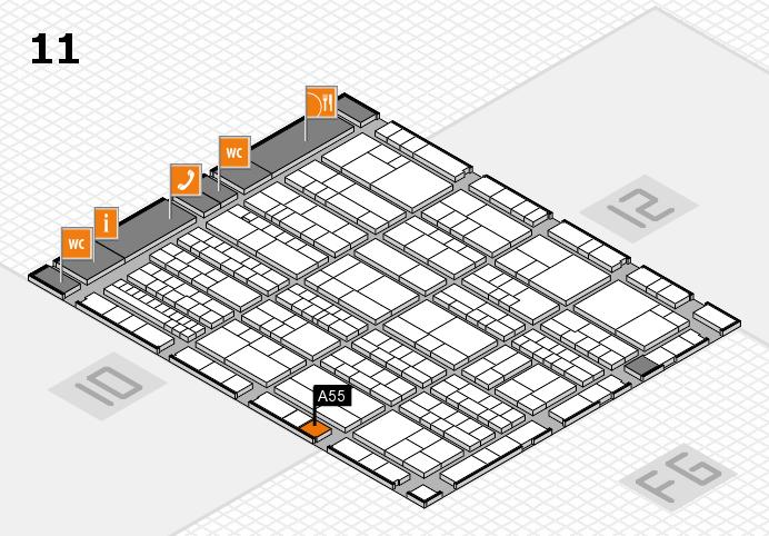 K 2016 hall map (Hall 11): stand A55