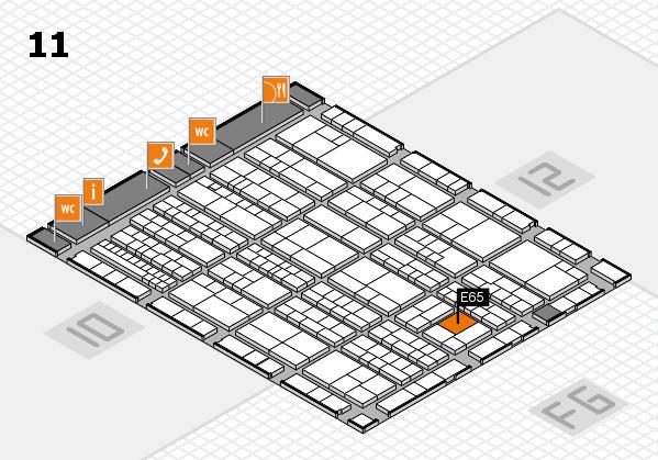 K 2016 hall map (Hall 11): stand E65