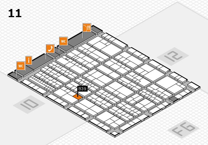 K 2016 hall map (Hall 11): stand B39