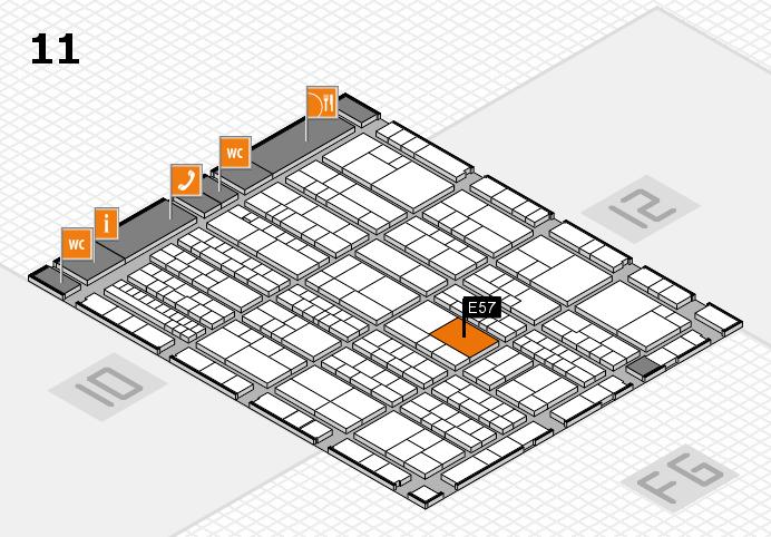 K 2016 hall map (Hall 11): stand E57
