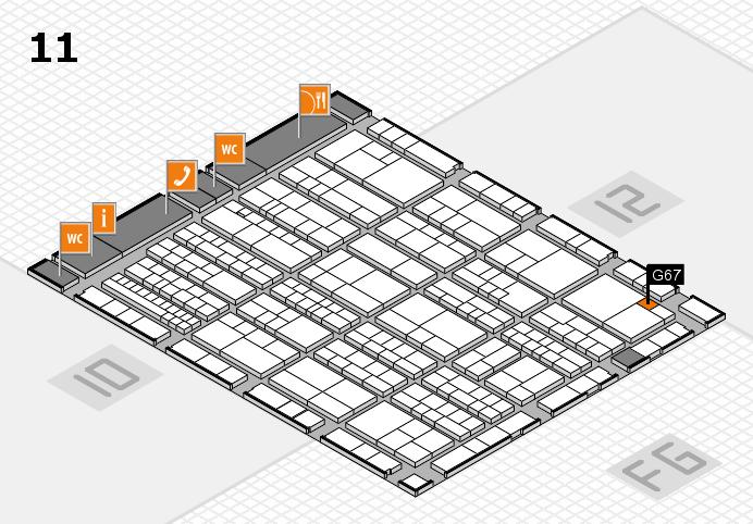 K 2016 hall map (Hall 11): stand G67