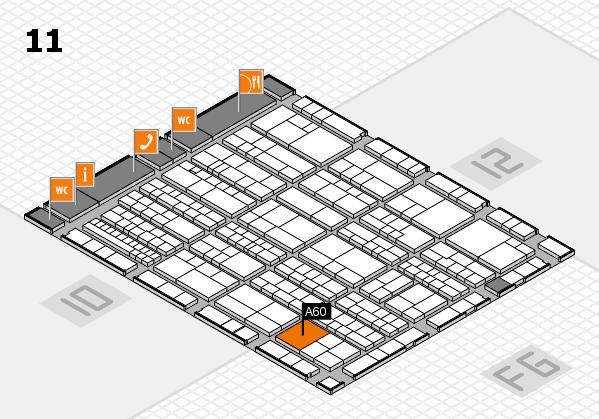 K 2016 Hallenplan (Halle 11): Stand A60