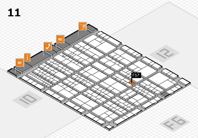 K 2016 hall map (Hall 11): stand F57