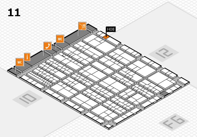 K 2016 hall map (Hall 11): stand H08