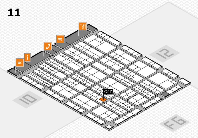 K 2016 hall map (Hall 11): stand C57