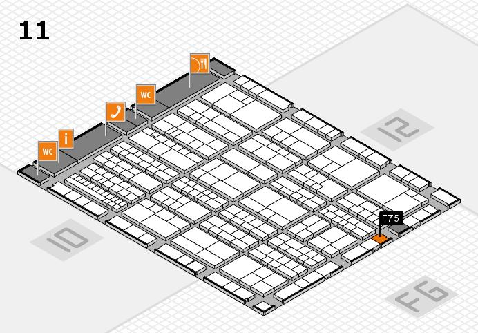 K 2016 hall map (Hall 11): stand F75