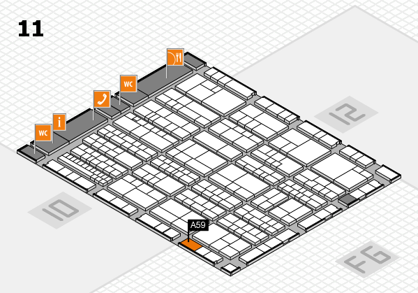 K 2016 hall map (Hall 11): stand A59