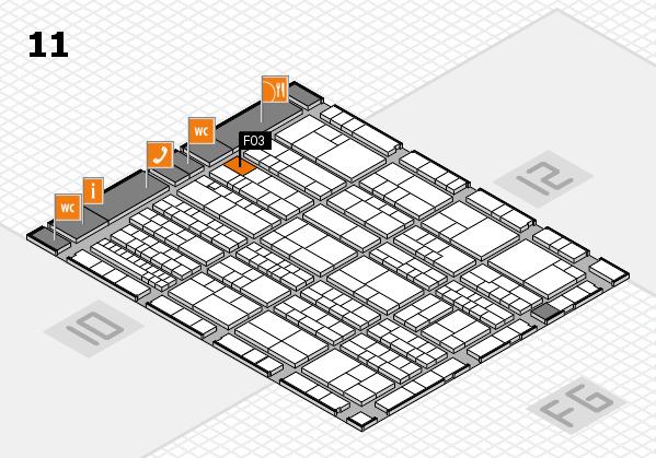 K 2016 hall map (Hall 11): stand F03
