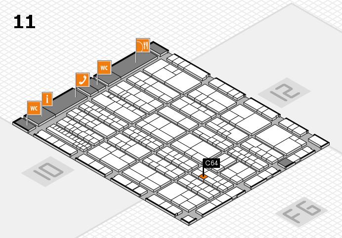 K 2016 hall map (Hall 11): stand C64
