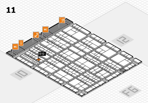 K 2016 hall map (Hall 11): stand B19