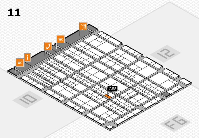 K 2016 hall map (Hall 11): stand C58