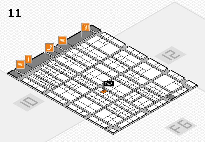 K 2016 hall map (Hall 11): stand D43