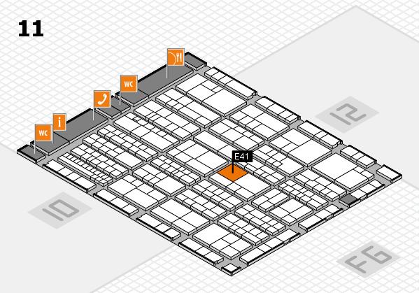 K 2016 Hallenplan (Halle 11): Stand E41
