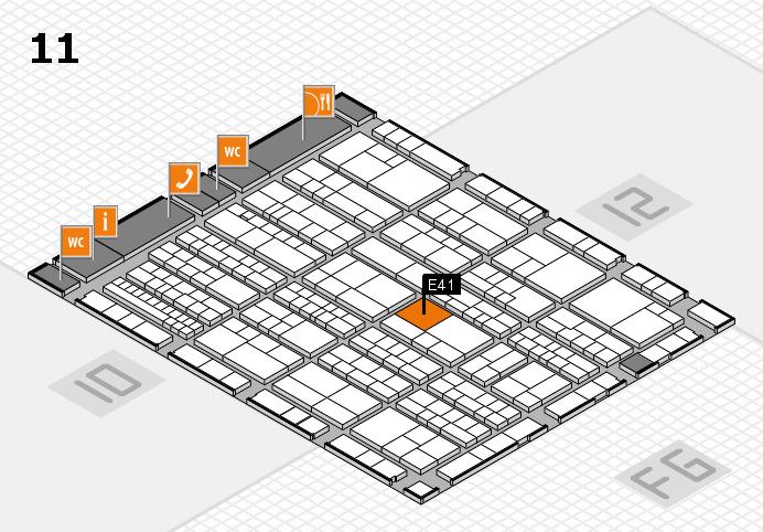 K 2016 hall map (Hall 11): stand E41