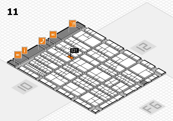 K 2016 hall map (Hall 11): stand E21