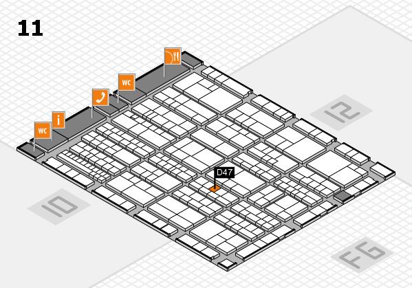K 2016 hall map (Hall 11): stand D47