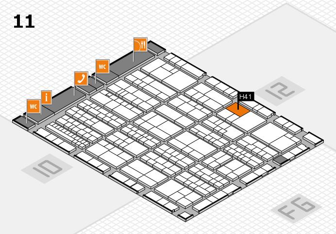 K 2016 hall map (Hall 11): stand H41