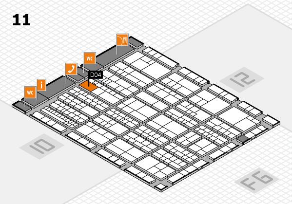 K 2016 hall map (Hall 11): stand D04