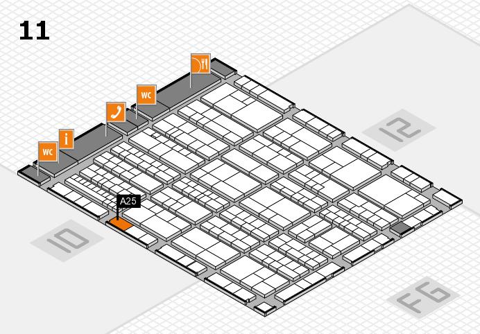 K 2016 hall map (Hall 11): stand A25
