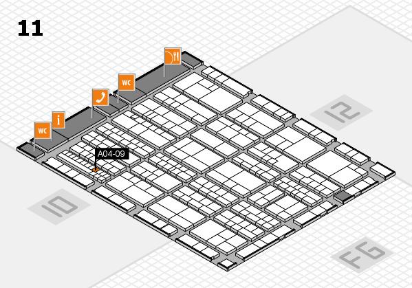 K 2016 hall map (Hall 11): stand A04-09