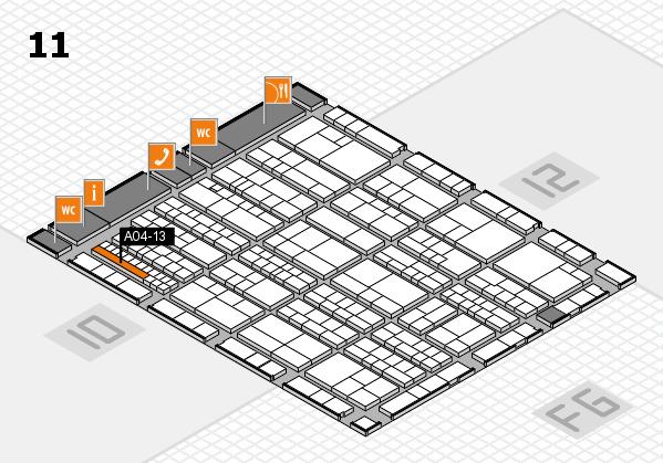 K 2016 hall map (Hall 11): stand A04-13