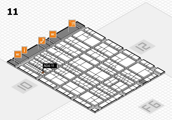 K 2016 hall map (Hall 11): stand A04-11