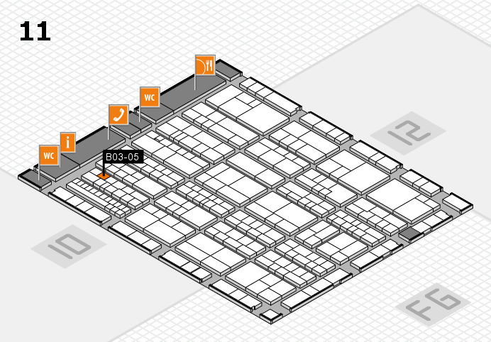 K 2016 hall map (Hall 11): stand B03-05