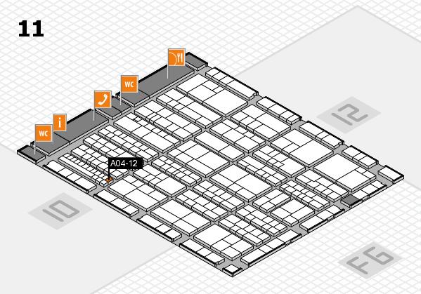 K 2016 hall map (Hall 11): stand A04-12