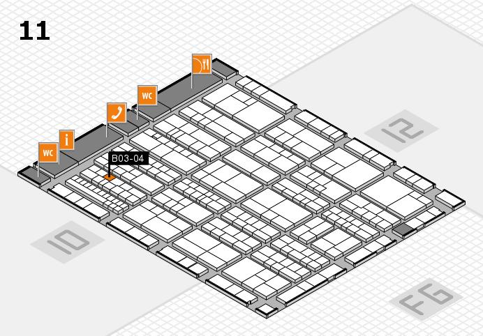K 2016 hall map (Hall 11): stand B03-04