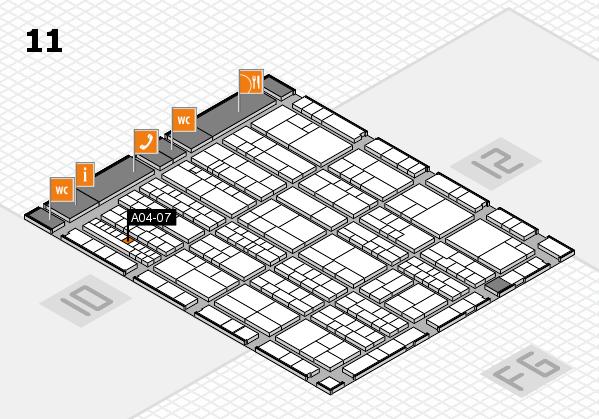 K 2016 hall map (Hall 11): stand A04-07