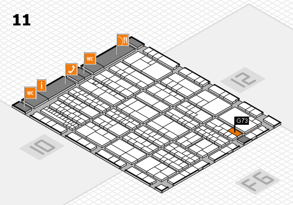 K 2016 Hallenplan (Halle 11): Stand G73