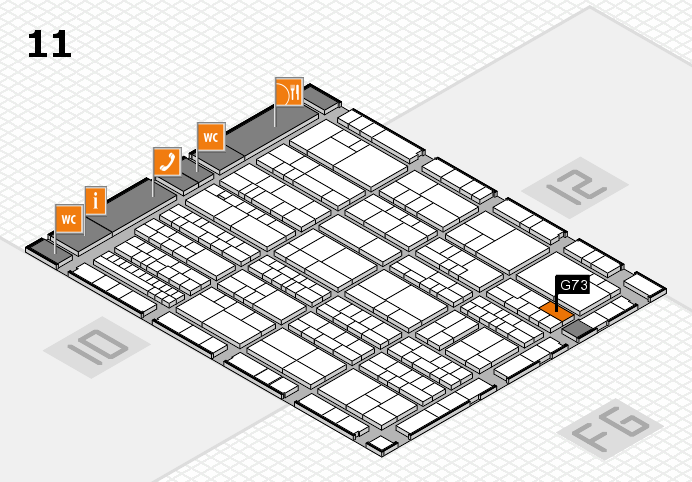K 2016 hall map (Hall 11): stand G73