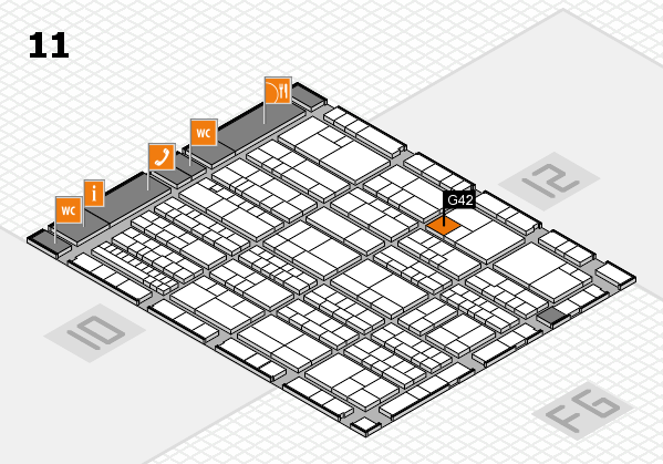 K 2016 hall map (Hall 11): stand G42