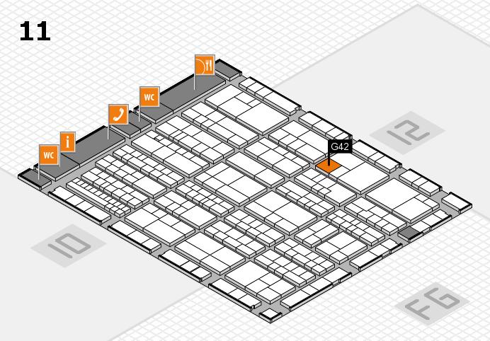 K 2016 Hallenplan (Halle 11): Stand G42