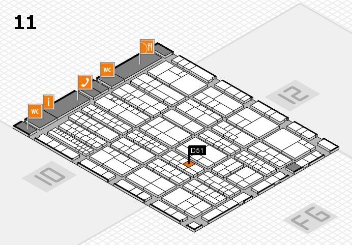 K 2016 hall map (Hall 11): stand D51