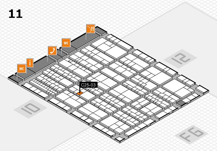 K 2016 hall map (Hall 11): stand C25-03