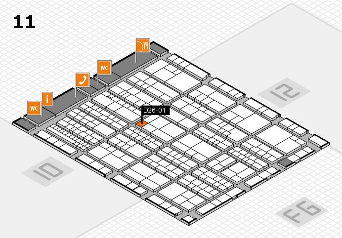 K 2016 hall map (Hall 11): stand D26-01