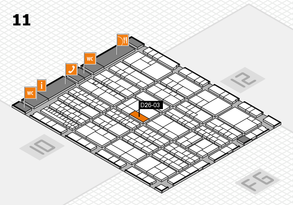 K 2016 hall map (Hall 11): stand D26-03