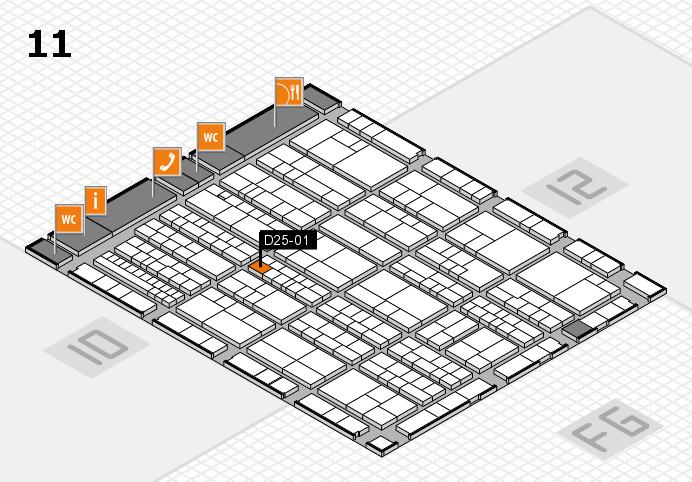 K 2016 hall map (Hall 11): stand D25-01