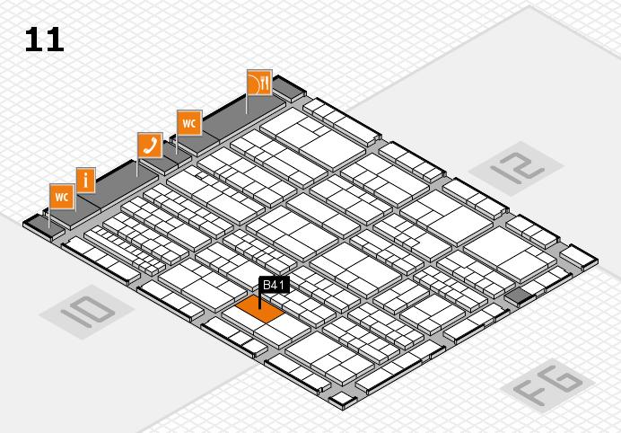 K 2016 hall map (Hall 11): stand B41