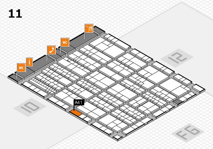 K 2016 hall map (Hall 11): stand A41
