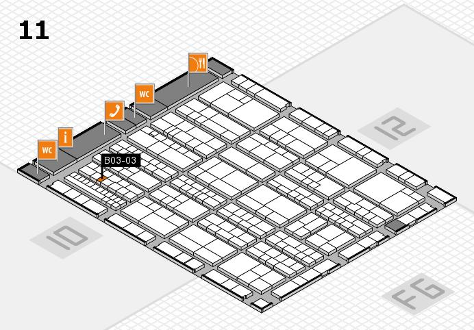 K 2016 hall map (Hall 11): stand B03-03