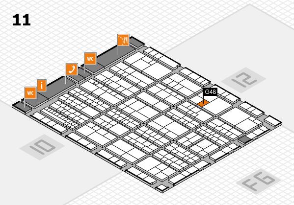 K 2016 hall map (Hall 11): stand G48