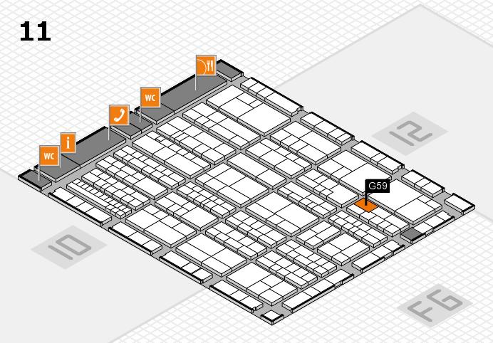 K 2016 hall map (Hall 11): stand G59