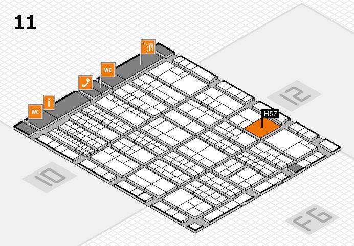 K 2016 hall map (Hall 11): stand H57