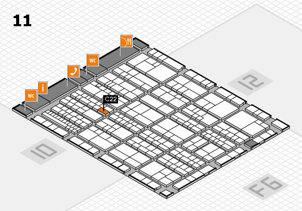 K 2016 hall map (Hall 11): stand C22