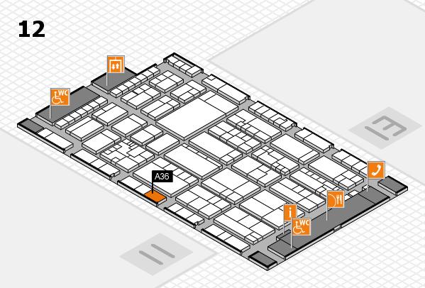 K 2016 Hallenplan (Halle 12): Stand A36