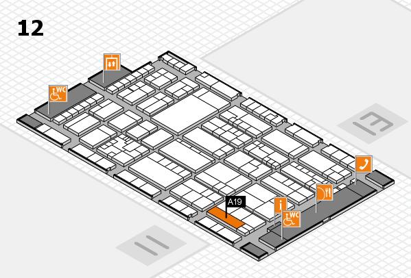 K 2016 hall map (Hall 12): stand A19