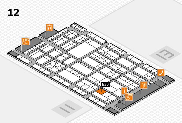 K 2016 hall map (Hall 12): stand B20