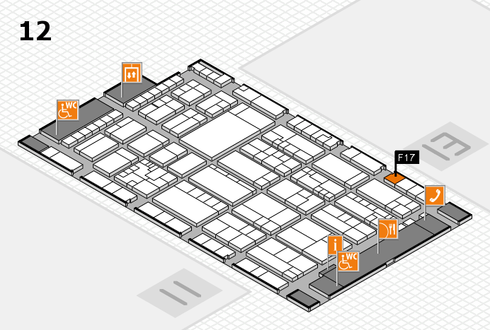 K 2016 hall map (Hall 12): stand F17